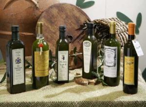 Alcune bottiglie prodotte nel territorio
