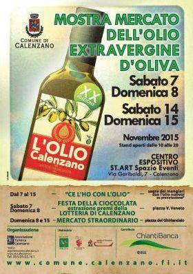 MOSTRA MERCATO DELL'OLIO EXTRAVERGINE D'OLIVA DI CALENZANO XX EDIZIONE