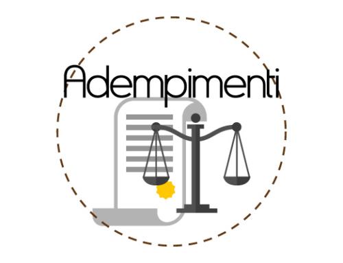Adempimenti degli obblighi di trasparenza e di pubblicità – Anno 2018