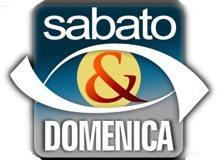 """Il logo della trasmissione """"Sabato e Domenica"""""""