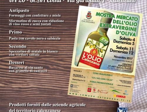 Mostra Mercato dell'Olio Extravergine di Oliva a Calenzano, XXII edizione – 2017